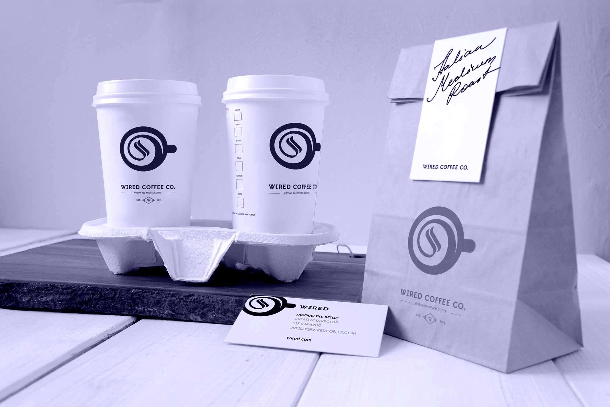 Wired Coffee Branding